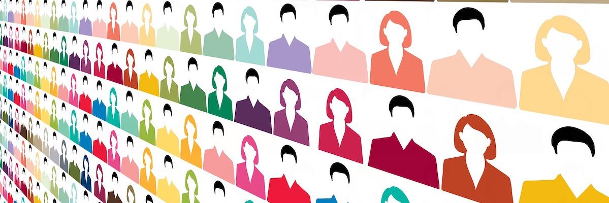 Mitgliederversammlung im Verein während Corona - Symbolbild mit Icons von Menschen